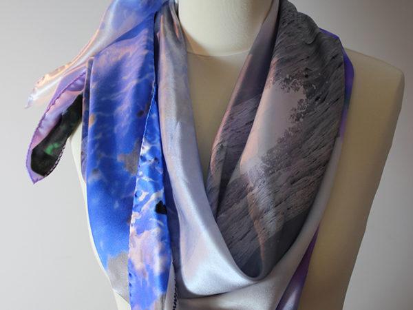 Sceillig Mhichil -Designer silk scarf