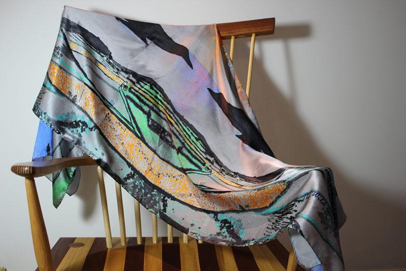 Designer silk scarf -the magic of the Skellig Ring