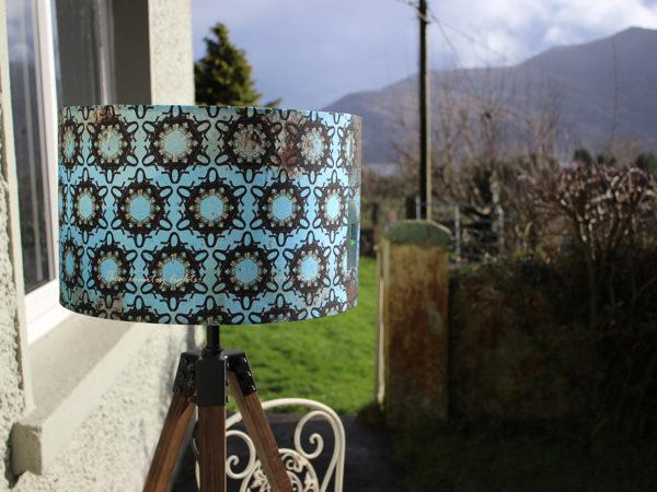Gooseneck geometric lampshade