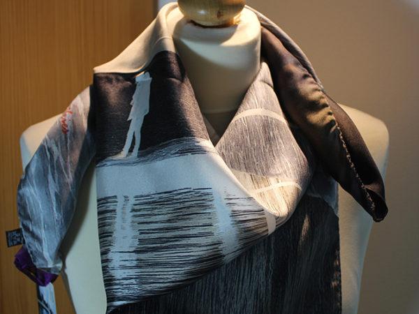 Romance at Loch Lein Killarney silk scarf