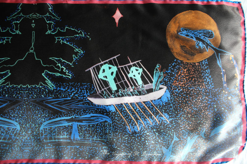 St. Brendan's Voyage silk scarf