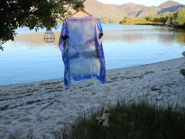 Where the Heart sings Skellig Mhichil silk scarf dress