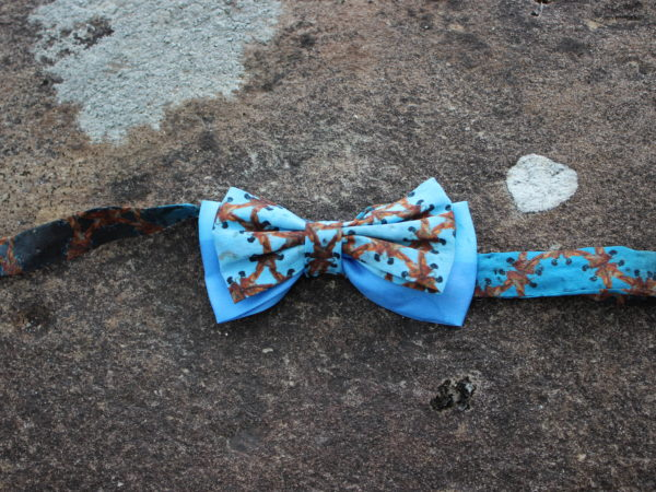 Wearable art silk bowtie one of a kind