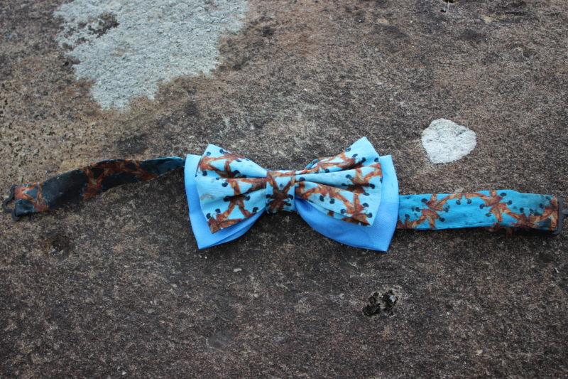 Wearable art silk bowtie one of a kind