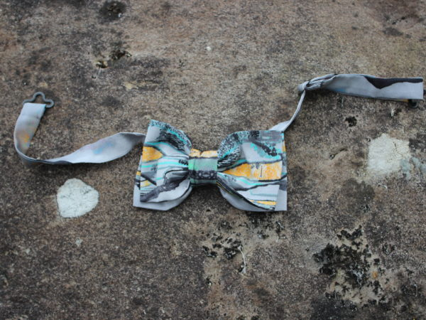 Wearable landscape art bowtie