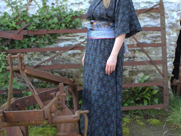 Sceilig Rock Silk kimono style wrap dress